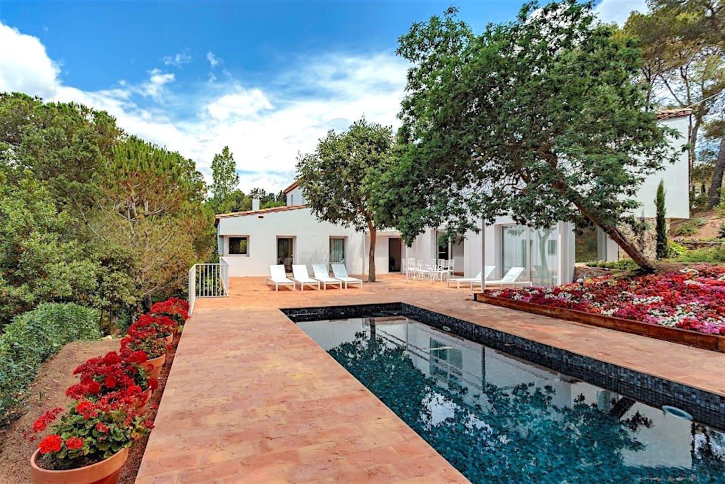 Terraza exterior , piscina