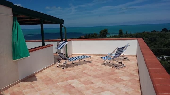 Apartment in Parco del Gargano with scenic view