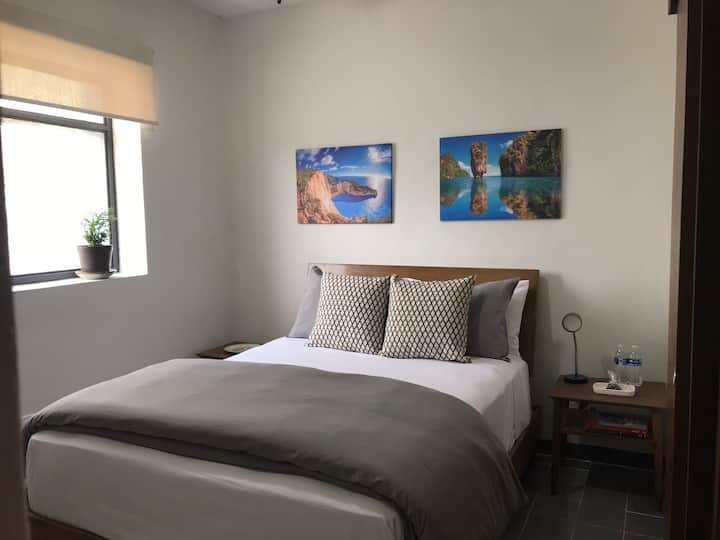 Casa Azul Habitación 1 con baño privado