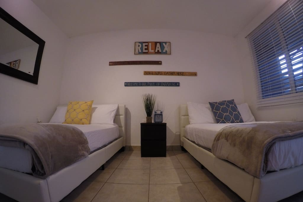 two full beds for extra people, perfect for families or couples