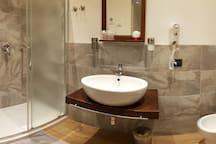 Bagno privato all'interno della stanza