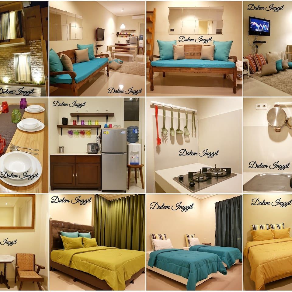 This is the collage-photo of Dalem Inggil's interior, equipments and necessary tools to meet our guest' needs