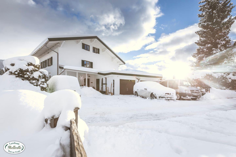 Ferienwohnung in der Bergen mit Parkplatz direkt vor dem Haus