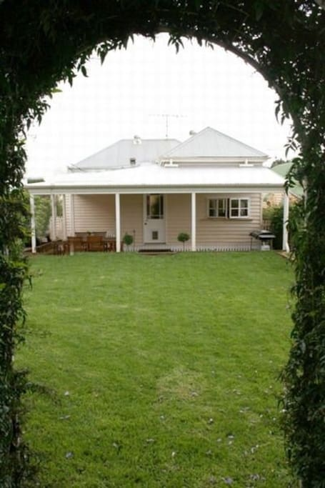 Child Friendly backyard with a great BBQ and Entertainment area.