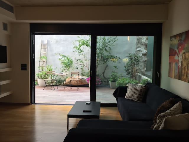 view from the living room