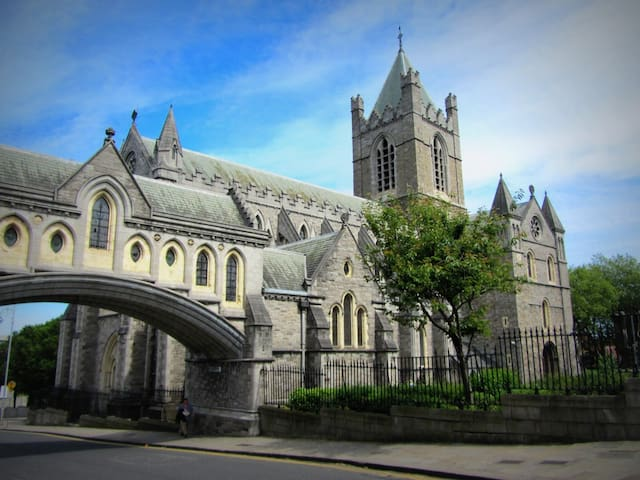 Christchurch Cathedral - 7 minute walk over the river Liffey