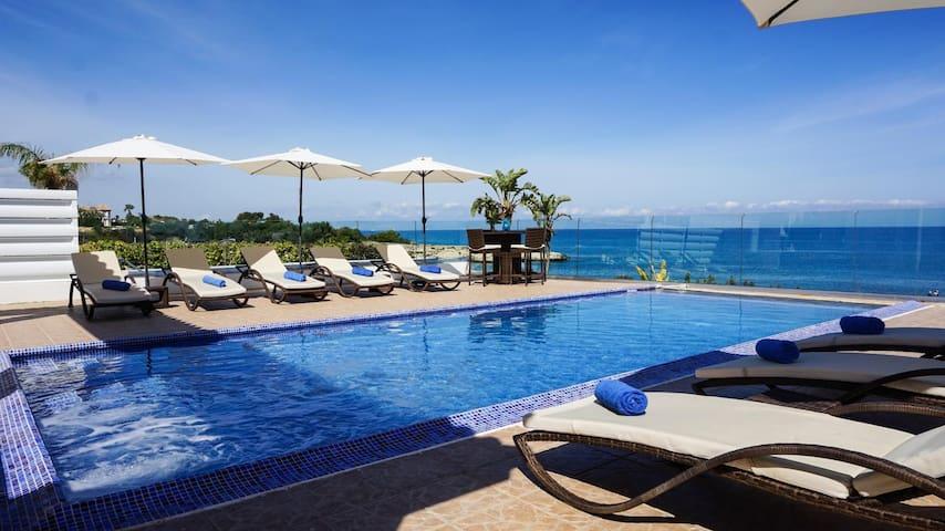 Beach Front Aqua Marina (Kapparis - Protaras) - Modern Luxury Beach Front Villa with Panoramic Views