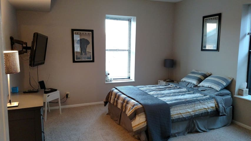 Private bed and bath near Wash U and Forest Park - St. Louis - Appartement