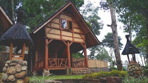 Earth Saddam Palayangan Cottage in Situ Cileunca