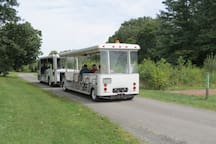 Walk, bike or ride the trolley through Duke Farms