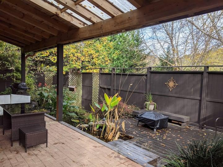 Private fence enclosed,  serene contemporary cabin