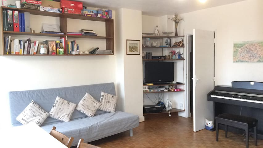 40m2 Flat with 2 beds in Paris 17th district