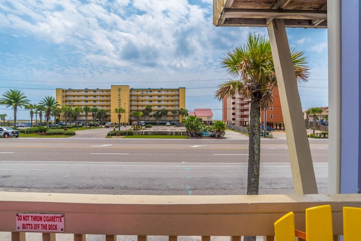 Your view from the front porch! Directly across the street from the Gulf of Mexico!!!