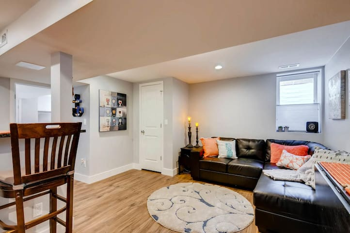Trendy, Remodeled Basement Apartment