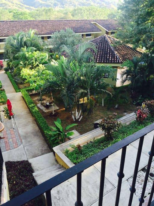 Balcony view from Condo unit.