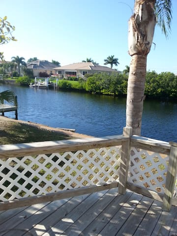 Lovely house on deep water canal in Punta Gorda FL