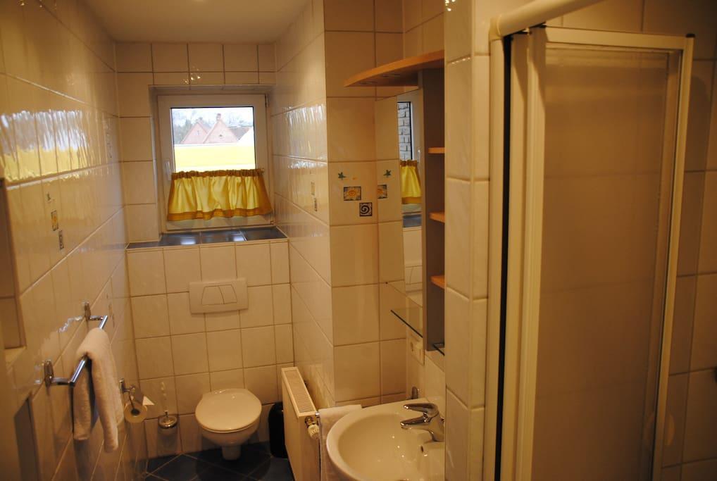 Private Dusche und WC