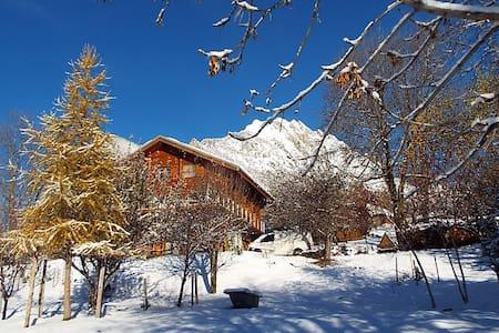 chambre dans chalet plein sud en montagne (1100m) - Saint-Martin-de-la-Porte - Dağ Evi