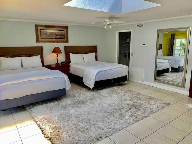 Private Guest Suite With Pool View and Full Bath