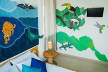 NEW STYLE!  Double-bed room with AC / Nuevo estilo! Habitación con cama doble y aire acondicionado