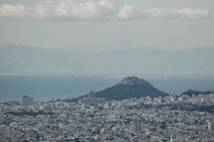 Bird's Eye View of Athens city - Penteli - Apartment