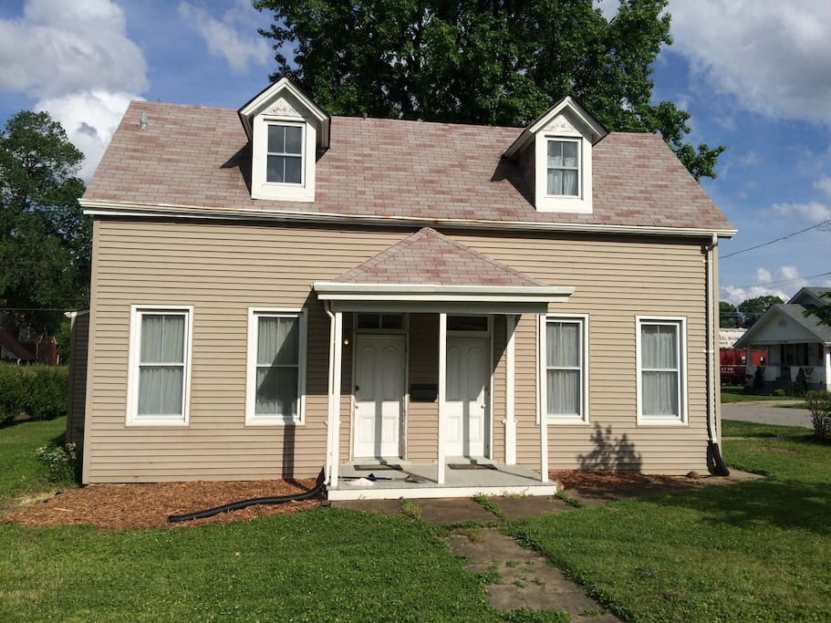 Front of house.  It is a single family home.