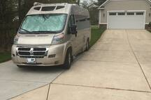 We can accommodate RVs up to 28' in length, in their own space.