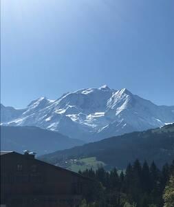 Appartement pied des pistes avec vue Mont Blanc