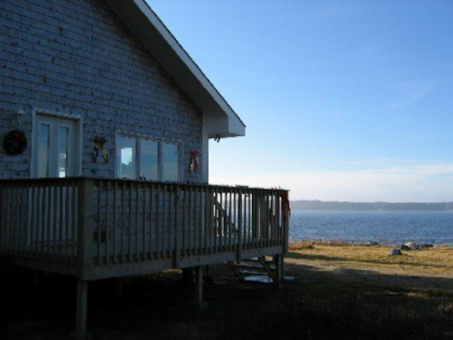 House is 20 meters from the shore.
