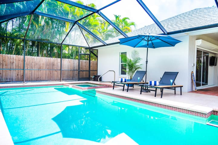 555 Royal Palm Villa | Luxury Heated Pool Home