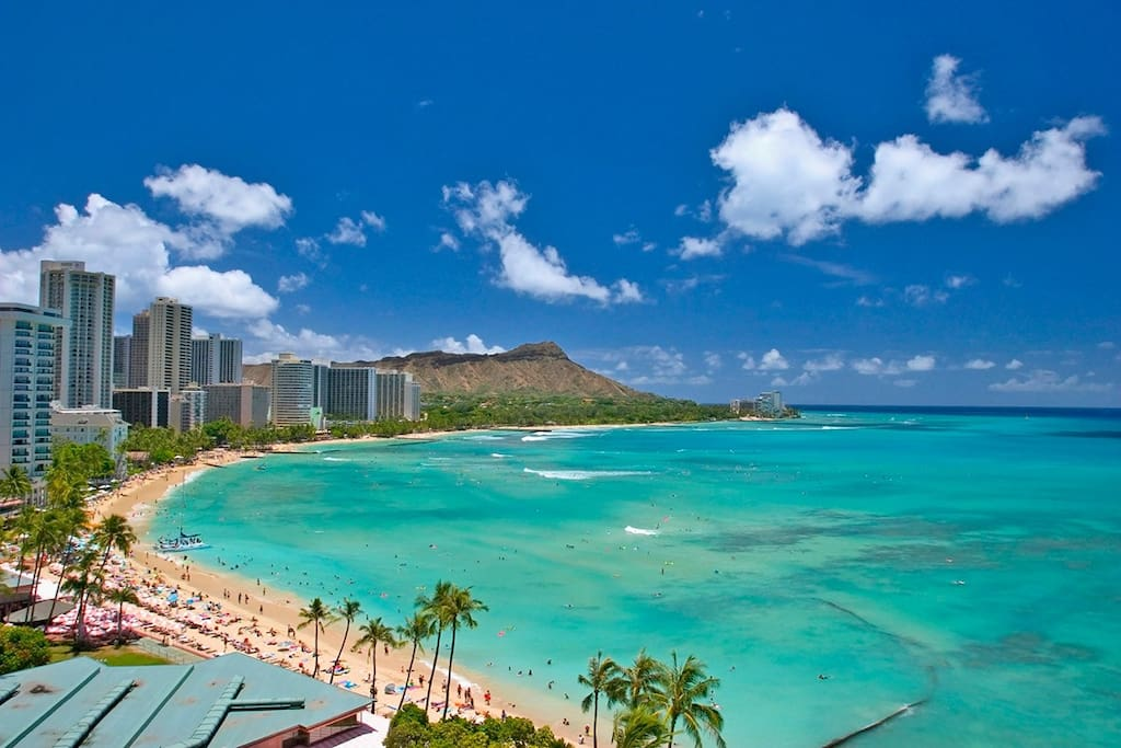 Waikiki Beach is only a 3 block walk from the condo