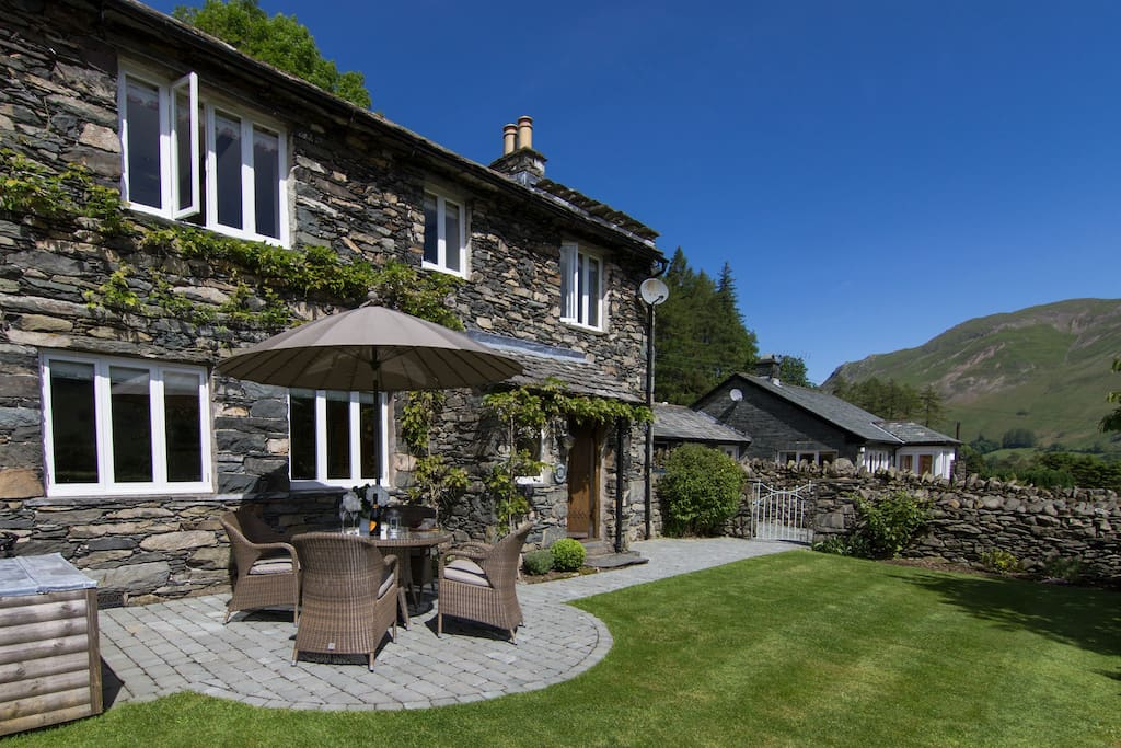 The stunning setting of Stone Cottage (garden furniture is provided from April to September.