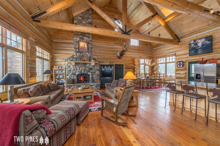 Winter in Big Sky Starts Here!- Centrally Located & Gorgeous Log Home!