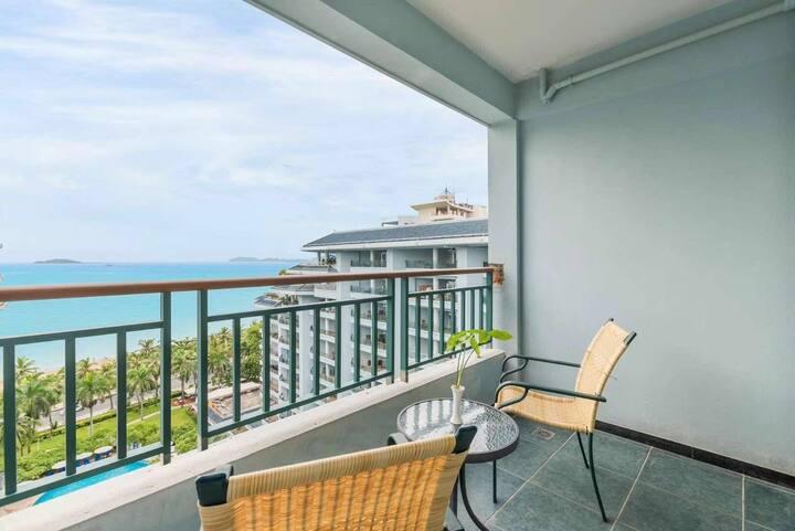 【邂逅·遇见海·】三亚湾 正面海景一居室、可预定景区免费接送一日游、距离海边80米、提供包车服务、