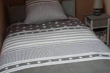 Chambre 2 lits une personne