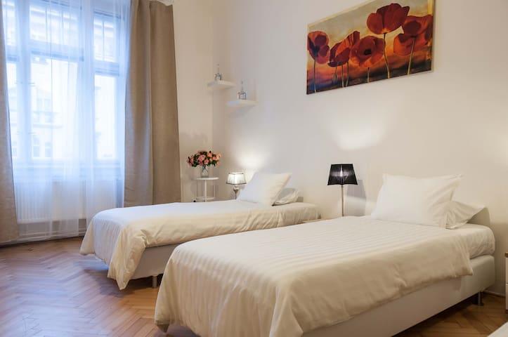 1 bedroom - 3 single bed