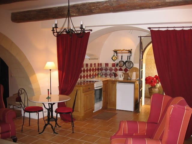 Studio spacieux dans Mas de village - Saint-Siffret - Huoneisto