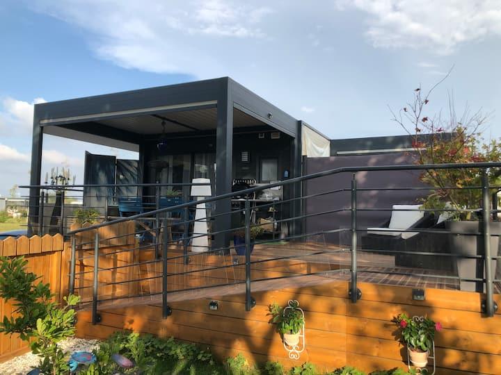 Suite Océan résidence New Lodge Terrasse bioclim.