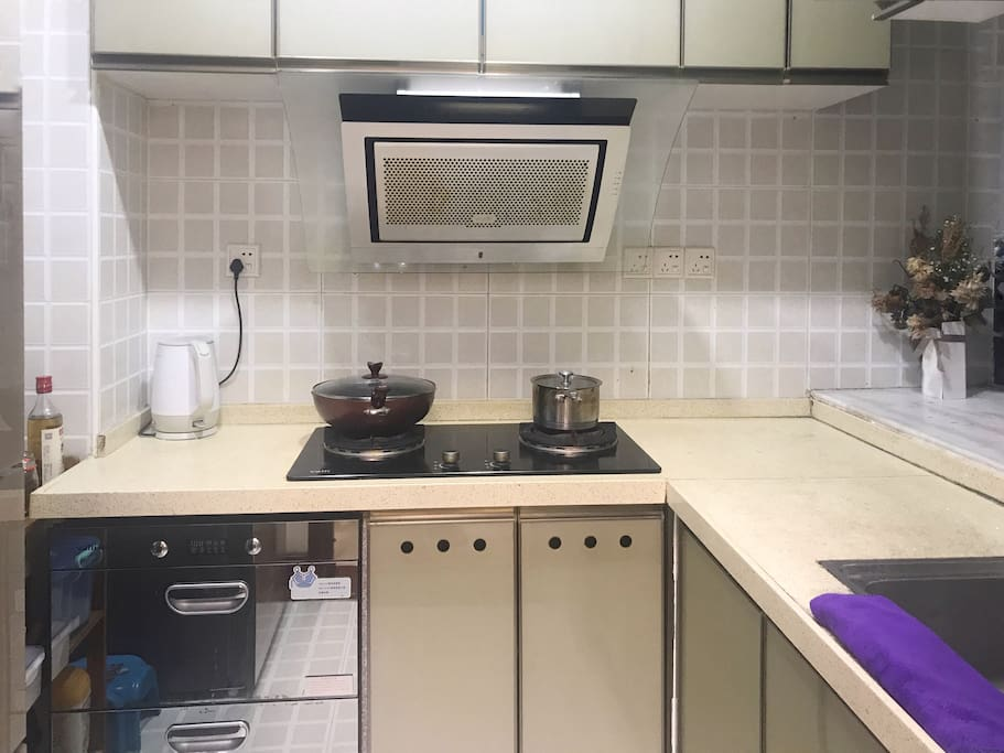 厨房东西都可以用,如果我在家做饭可以一起吃哟