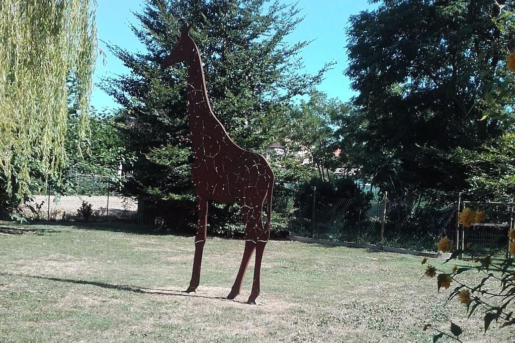 la nostra giraffa,nata dalla passione per le creazioni in ferro di Lino