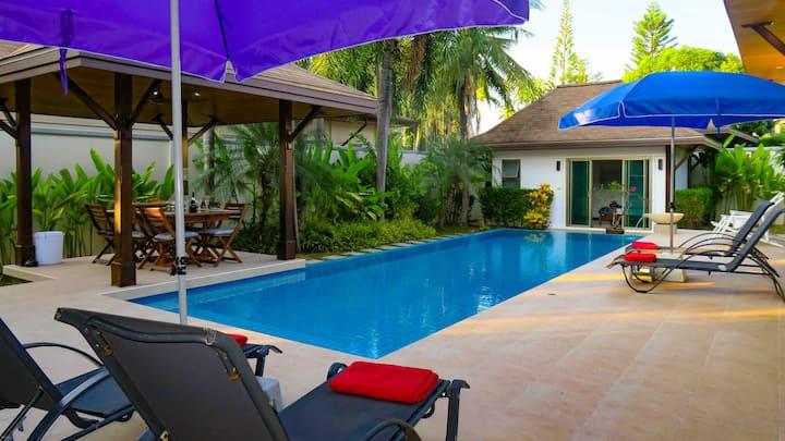 Private Villa Dinadi Salt Pool 3 Bdrms, Naiharn