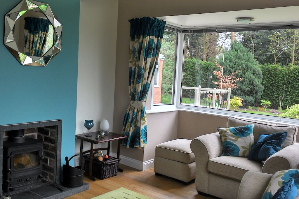 Private lounge with log burner and TV/DVD