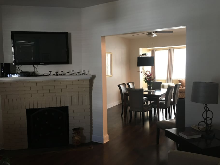 Additional view of Living Room and Dining Room