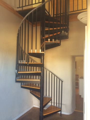 Spiral Stairs to Upper Level