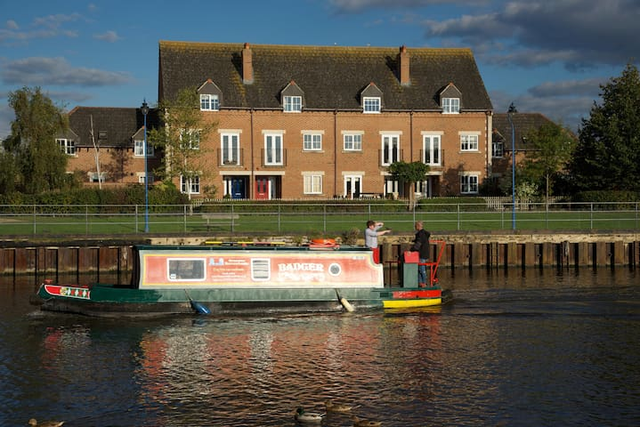 View from other side of canal looking towards house