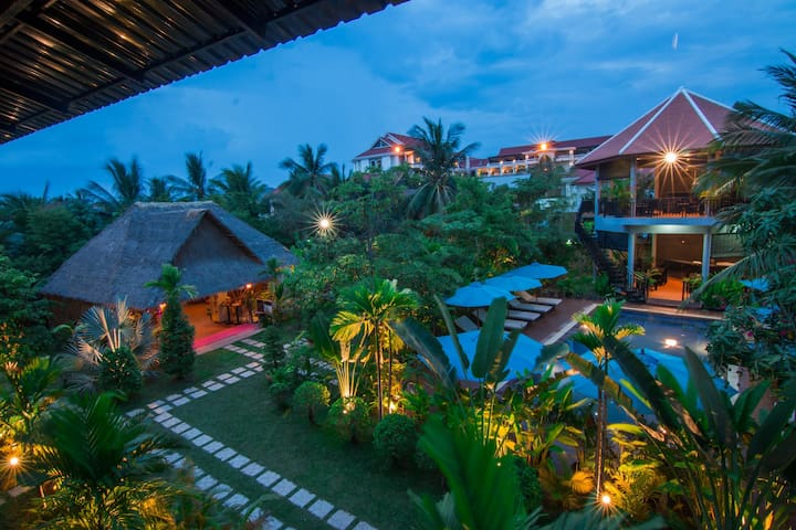 Garden View Room+Breakfast+Free Airport Transfer - Krong Siem Reap - Boetiekhotel