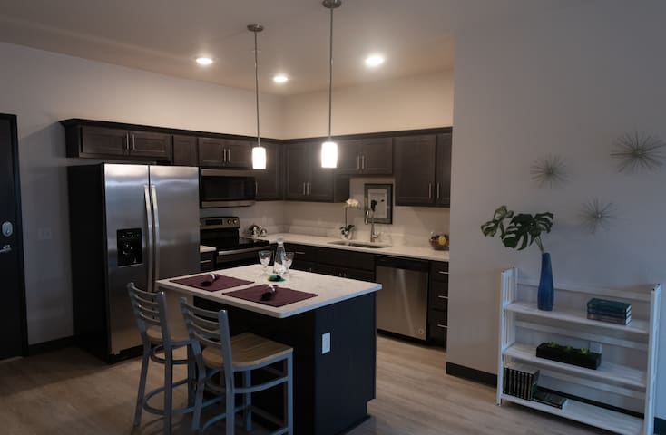 Luxury 2 BR steps from downtown, UIHC, and Kinnick
