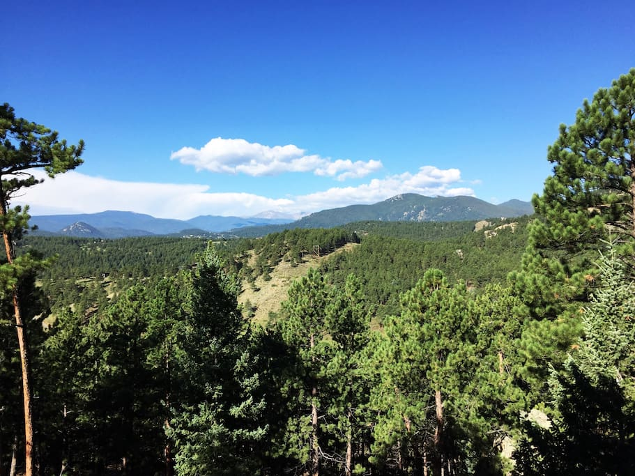 View to west and Mt Evans