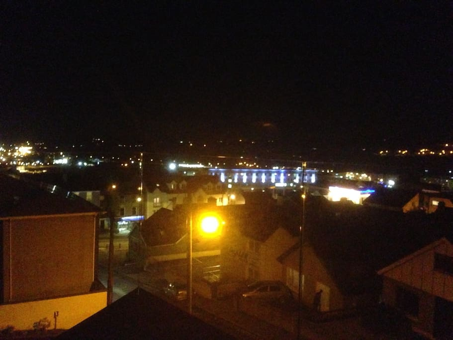 Part of the view at night over the Town.