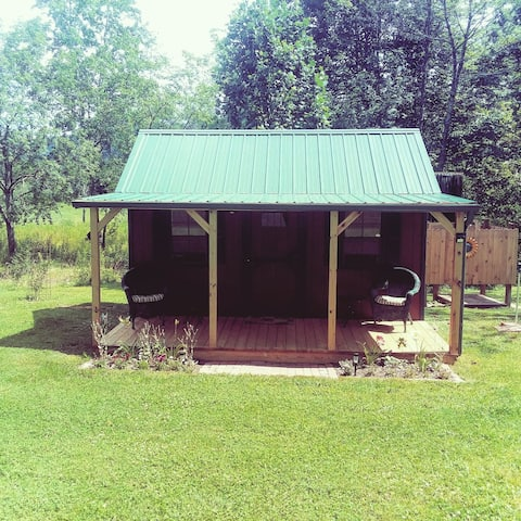 Crooked Creek glamping cabin socally distanced